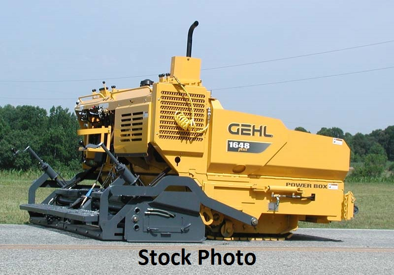 2008 Gehl 1648 Plus Paver 8′-13′ screed