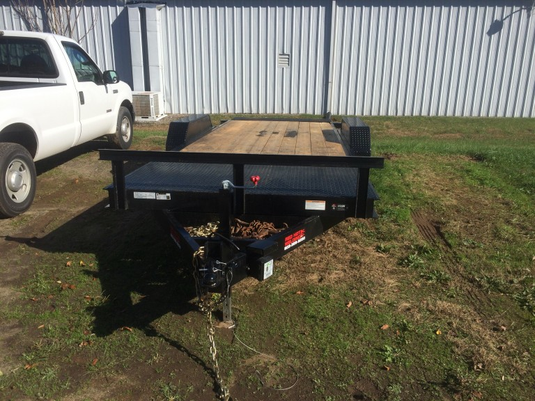 New Red Hot Welding 5 Ton Tilt-Deck Trailer