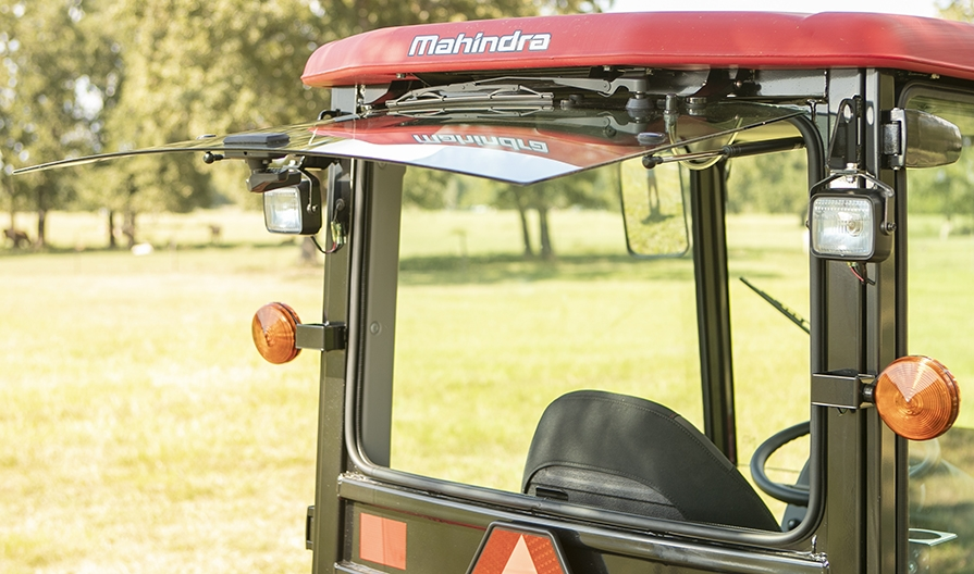 Mahindra 1640 Cab Back Glass